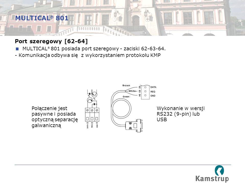 MULTICAL 801 Port szeregowy [62-64]